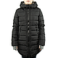 Женская Куртка Длинная Зима-Осень L (50) (WO003) Черная, фото 2
