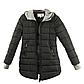 Женская Куртка Длинная Зима-Осень L (50) (WO003) Черная, фото 5