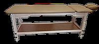 Массажный стол деревянный с подголовником PR_007P Карамельный