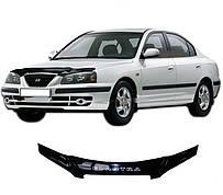 Дефлектор капота  Hyundai Elantra III с 2003-2006, Мухобойка Hyundai Elantra III