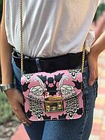 Женская кожаная сумка через плечо Furla metropolis Фурла Метрополис реплика