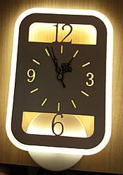 Настенные часы с подсветкой прямоугольные