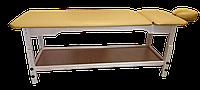 Массажный стол деревянный с подголовником PR_007P Желтый