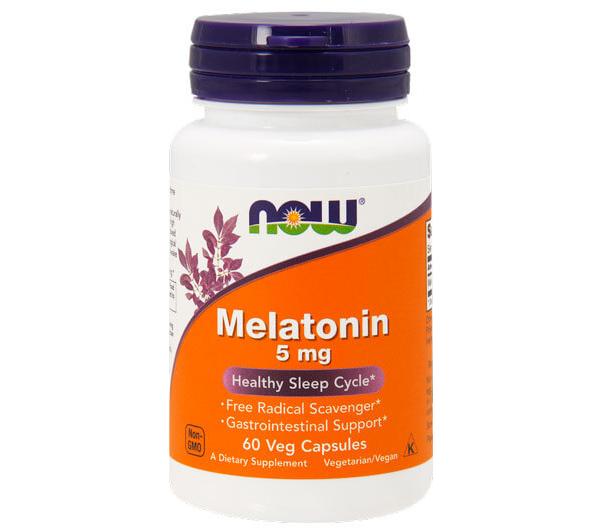 Melatonin 5 мг NOW Foods 60 капсул