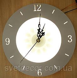 Настенные часы бра с подсветкой круглые 286