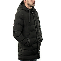 Мужская Куртка Длинная Зима-Осень XXL (MO929) Черная