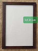 Рамка деревянная А4 (21х30см) орех, бесцветный лак, белая, чёрный, венге, серый.