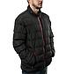 Мужская Куртка Короткая Весна L (48-50) (MO8018) Черная, фото 2