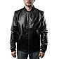 Мужская Куртка Бомбер Весна XXL (52) (MO100) Черная, фото 3