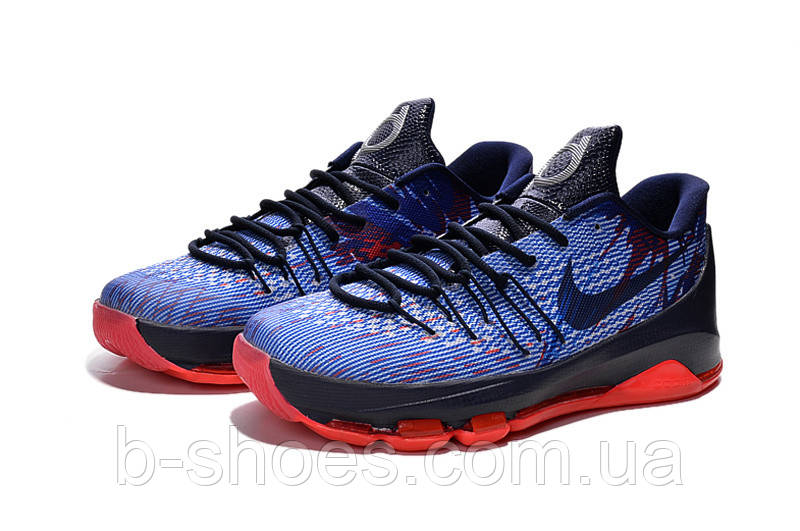 Мужские баскетбольные кроссовки Nike KD 8 (Blue/Red)