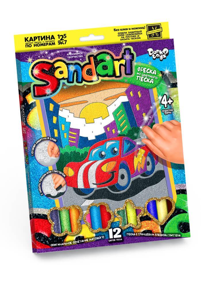 Набір для творчості «Фреска з піску» Машинка Danko Toys (SA-01-01)