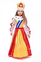 Детский карнавальный костюм для девочки Королева «Элизабет» 115-125 см, 130-140 см, красно-желтый, фото 1
