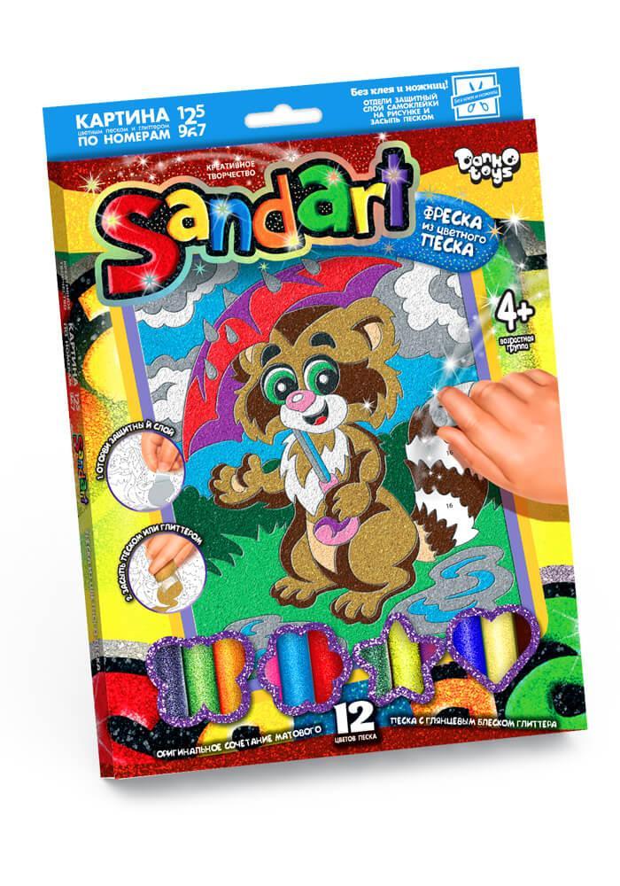 Набір для творчості «Фреска з піску» Єнот Danko Toys (SA-01-02)