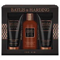 Подарочный набор для мужчин Baylis&Harding Black Pepper & Ginseng (Великобритания) Шампунь+Гель д/душа+Бальзам