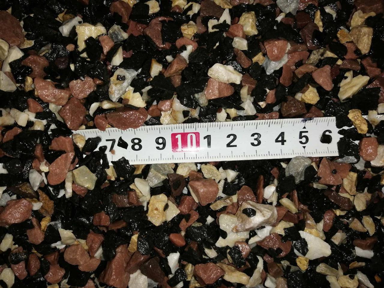 Грунт для акваріума червоно-чорно-білий 5-10 мм 10 кг (контраст-3)
