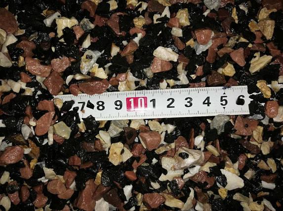 Грунт для акваріума червоно-чорно-білий 5-10 мм 10 кг (контраст-3), фото 2