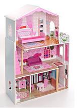 Деревянный кукольный домик с мебелью. 3 этажа XXL, фото 2