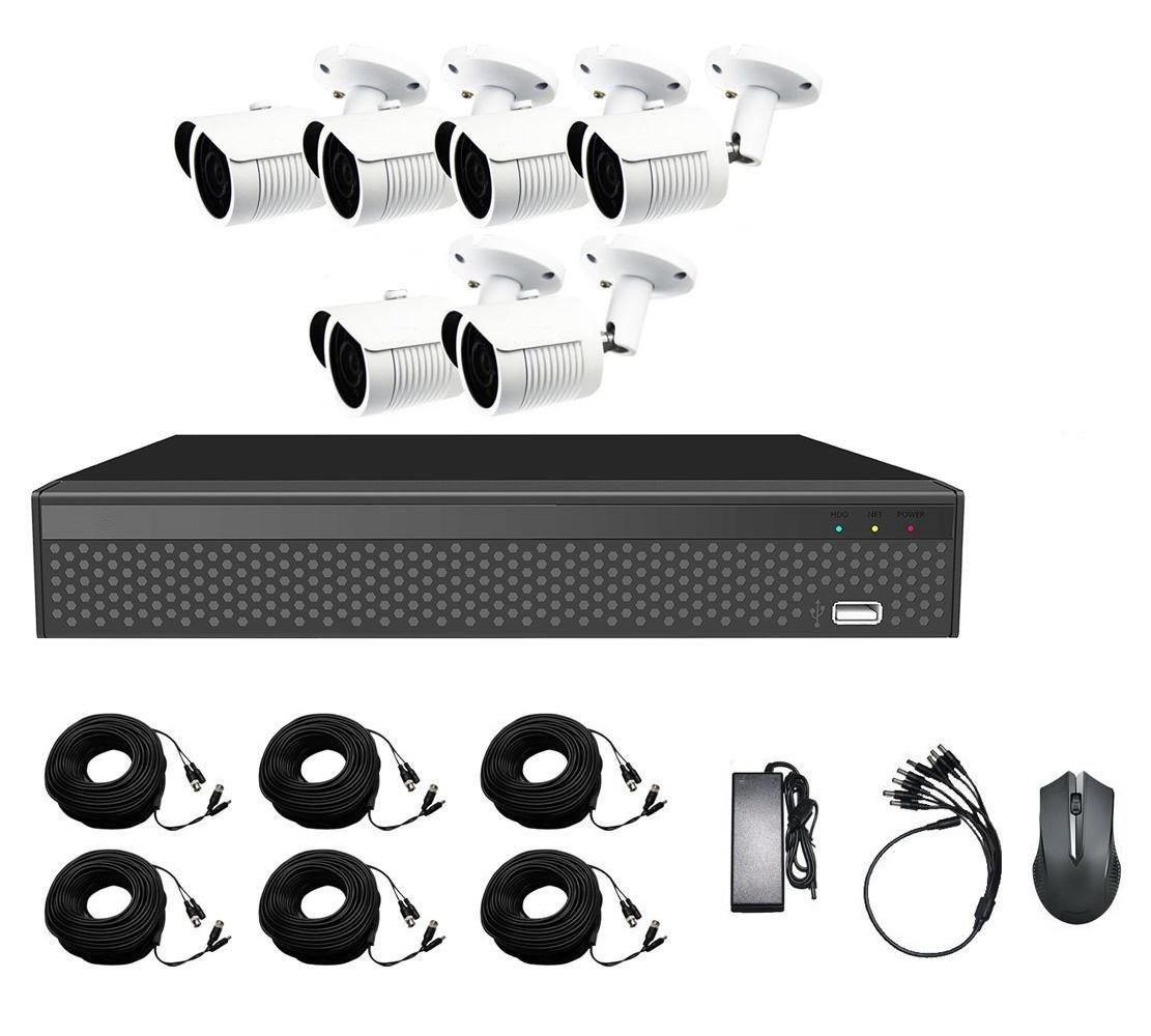 Комплект AHD видеонаблюдения из 6 уличных камер CoVi Security AHD-6W KIT