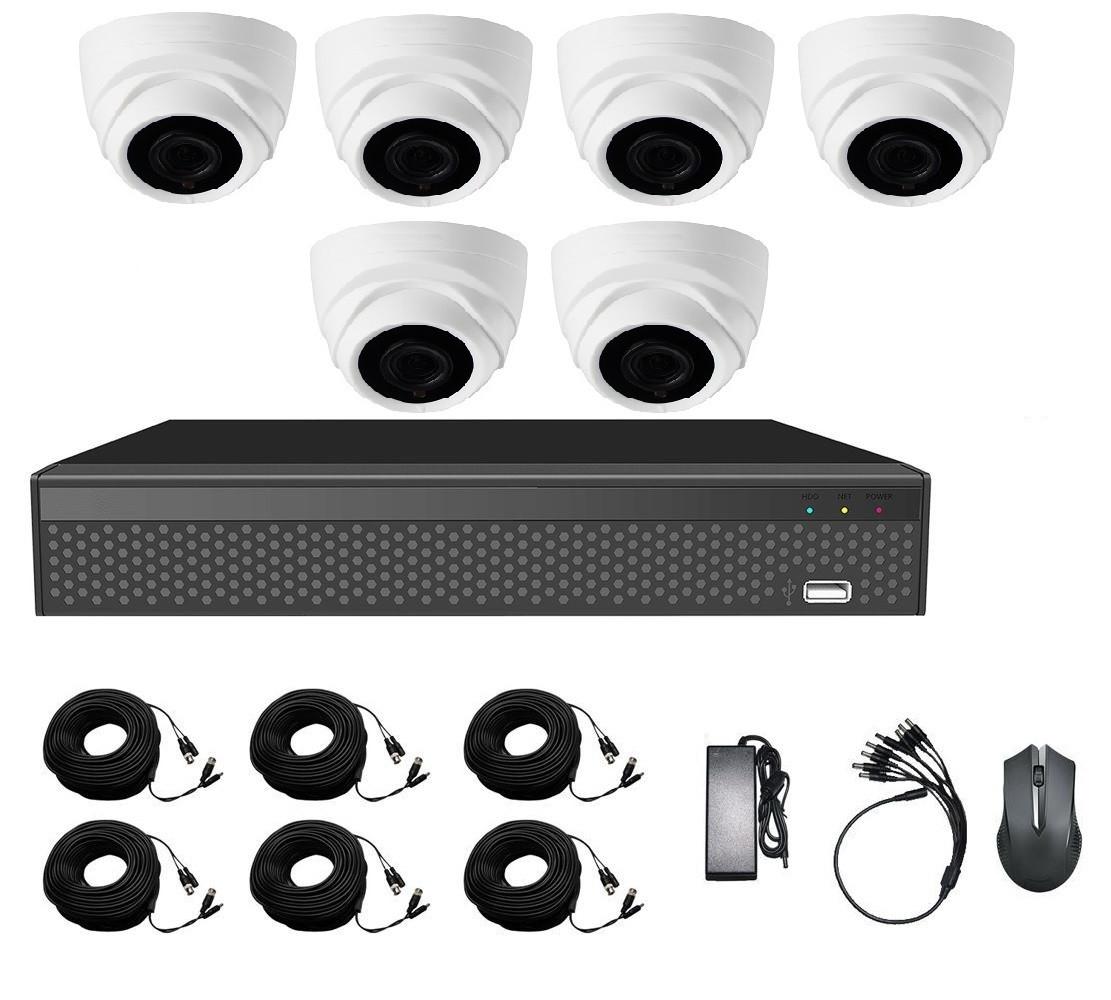 Комплект AHD видеонаблюдения на 6-ть купольных камер CoVi Security AHD-6D KIT