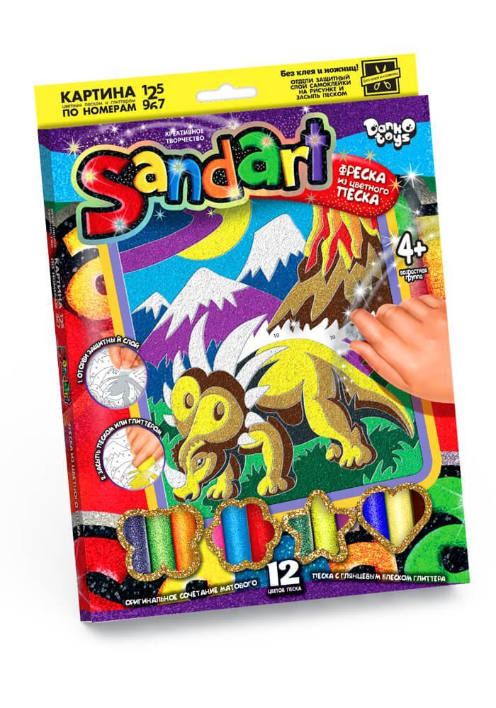Набір для творчості «Фреска з піску» Динозавр Danko Toys (SA-01-07)