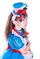 Детский карнавальные костюмы для девочки «Алиса в стране чудес» 130-140 см, голубой, фото 1