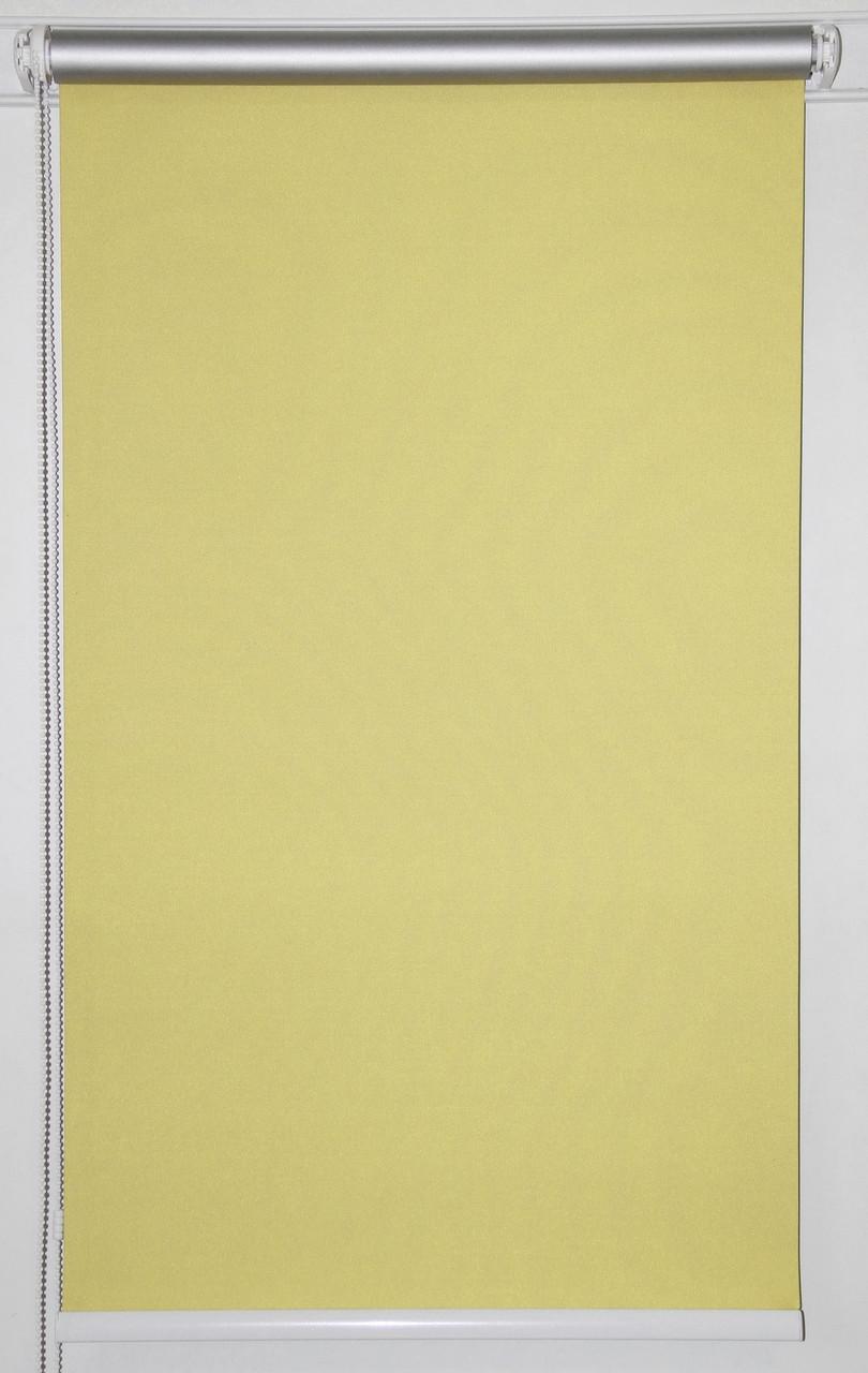 Готовые рулонные шторы 300*1500 Ткань Блэкаут Сильвер Ваниль