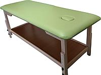 Массажный стол с отверстием для лица PR_008 Зеленый