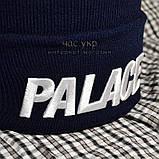 Хайповая мужская шапка Palace синяя Турция Палас Молодежная Новинка 2020 года Модная зима VIP реплика, фото 2