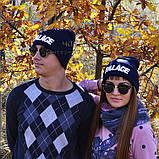 Хайповая мужская шапка Palace синяя Турция Палас Молодежная Новинка 2020 года Модная зима VIP реплика, фото 6