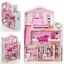 Деревянный кукольный домик с мебелью. 3 этажа XXL, фото 3