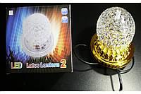 """Светодиодный диско-шар на золотой подставке (RD-7207) /  Диско-лампа """"хрустальный шар"""" на """"золотой"""""""