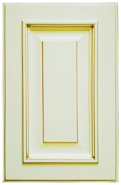 фасад МДФ Роял Гранд бежевый с золотой патиной