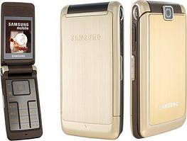 Мобильный телефон Samsung  s3600 Gold раскладушка 880 мАч