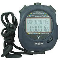 Секундомер электронный водостойкий Sprinter с 10 этапами памяти, будильником, календарем
