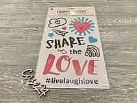 Набор декоративных наклеек Share Love