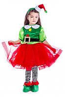 Детский карнавальный костюм для девочки «Эльфийка новогодняя» 110-120 см, несколько цветов