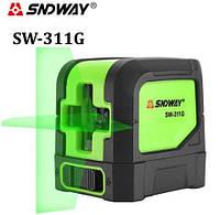 Линейный лазерный нивелир SNDWAY SW-311G (уровень) зеленый луч (SW-311G)