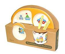 Бамбуковая посуда детская в 5 предметов, фото 2