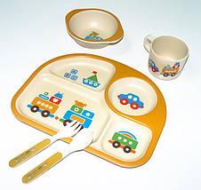 Бамбуковая посуда детская в 5 предметов, фото 3