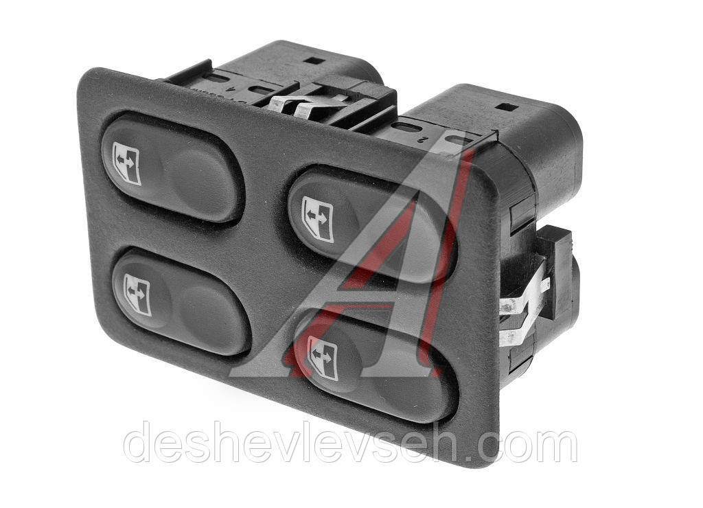 Блок управления стеклопод.ВАЗ-2110  (4 кнопки) (18.3763), 2110-3709720 (Псков)