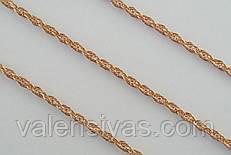 Цепочка позолоченная из серебра - плетение Веревка