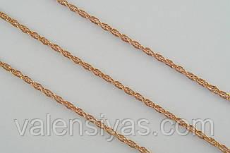 Цепочка серебро 925 с позолотой - плетение Веревка, фото 2