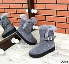 Женские зимние серые ботинки, из натуральной замши 36 41 ПОСЛЕДНИЕ РАЗМЕРЫ, фото 3