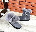 Женские зимние серые ботинки, из натуральной замши 36 41 ПОСЛЕДНИЕ РАЗМЕРЫ, фото 5