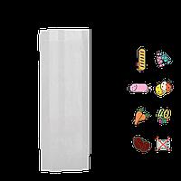 331 Пакет бумажный цельный, белый 310х100х40мм (ВхШхГ) 40г/м² (1уп/100шт.)