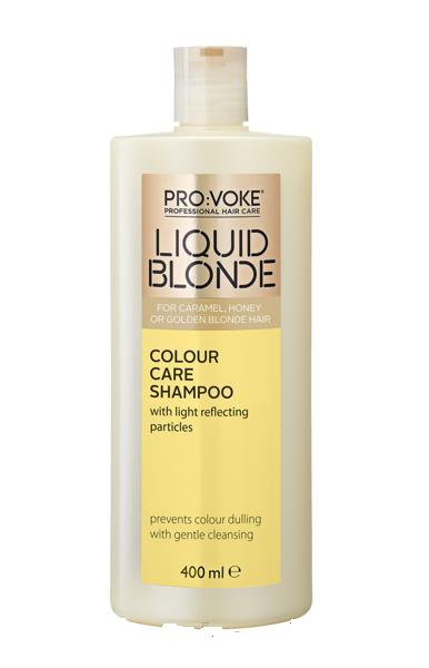 """Шампунь ухаживающий за волосами теплых оттенков блонд """"Liquid Blonde Colour Care Shampoo"""" Lambre/Ламбре 400 ml"""