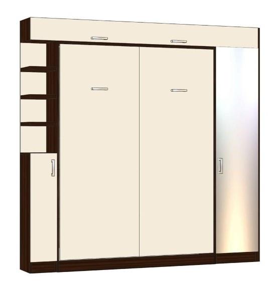 Вертикальная шкаф-кровать 1600*2000 мм. Комплектация согласно договору от 23.10.2019 и утвержденным эскизам.