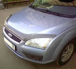 Дефлектор капота (карбоновый) FORD FOCUS II 2005-2008