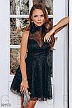 Короткое вечернее платье со сверкающим напылением, фото 2