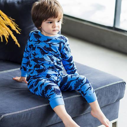 Детская пижама для мальчика артикул 701 синие динозавры, фото 2